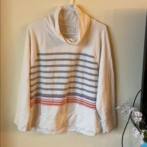 Lou & Grey Striped Cowl Neck Pullover